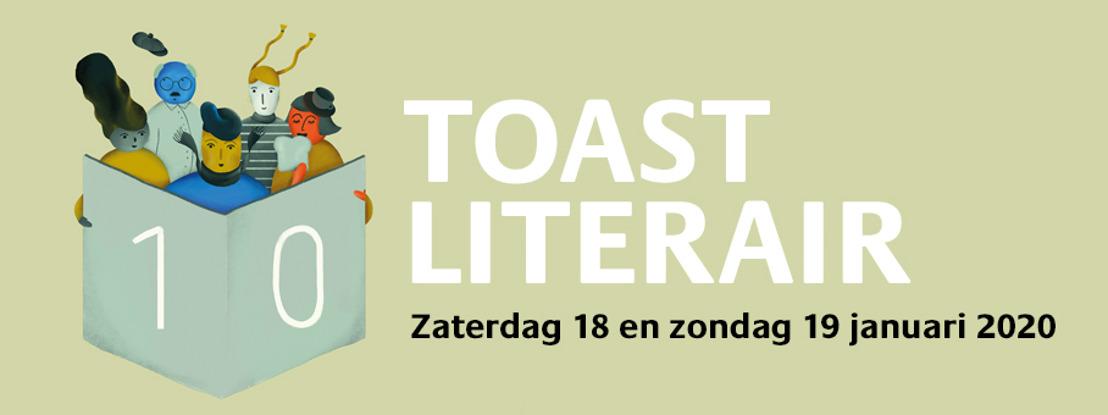 Ontbijt samen met Sien Volders en Jeroen Olyslaegers tijdens de tiende editie van Toast Literair