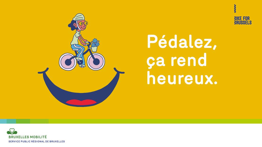 Mortierbrigade donne le sourire avec Bruxelles Mobilité et Bike for Brussels