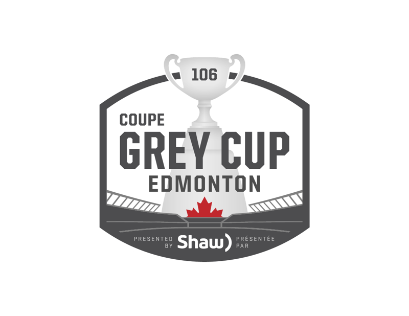 106th Grey Cup presented by Shaw logo.