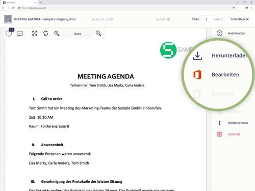 Teamplace ermöglicht die Teamarbeit mit Microsoft Office 365