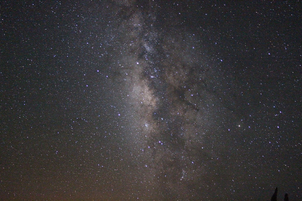 A picture of the Milky Way (our galaxy) that Cheyenne took with her DSLR camera during a field  to the Roque de los Muchachos Observarory in La Palma (Canary Islands).