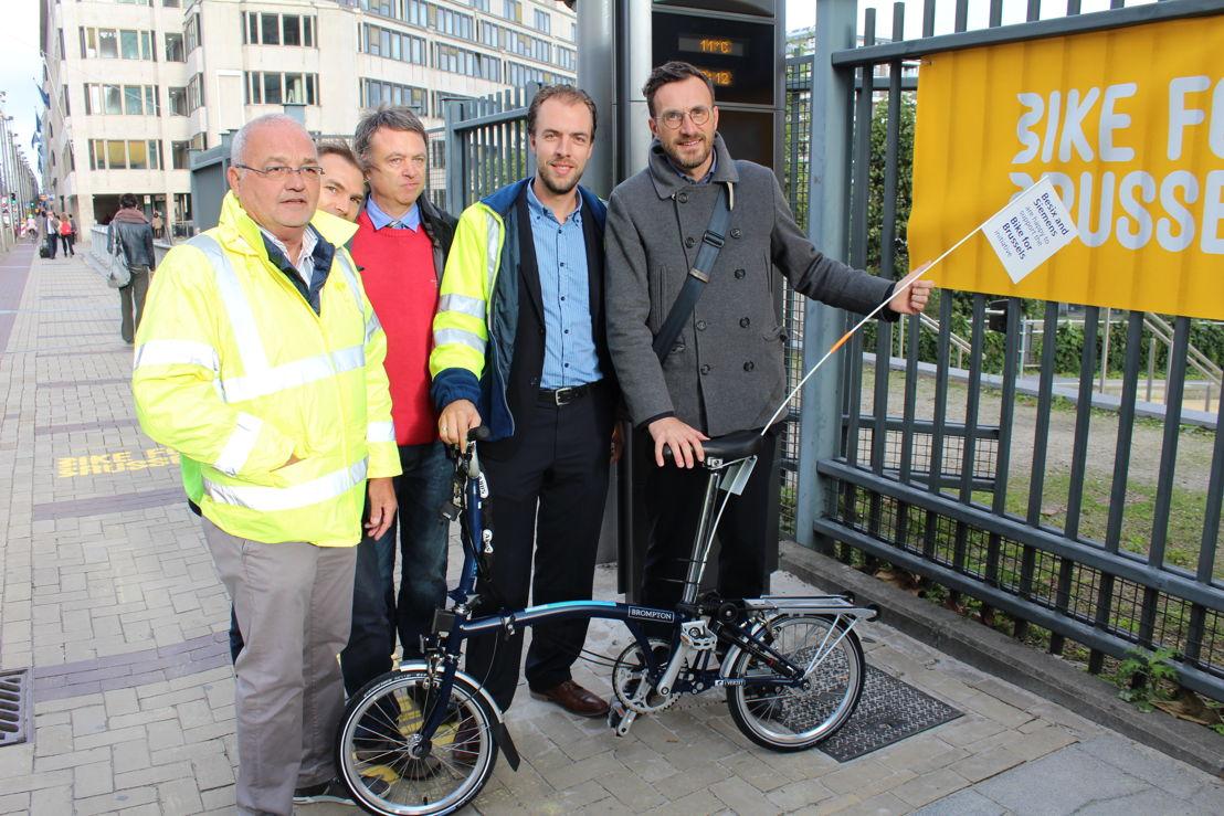 Eerste fietstelpaal