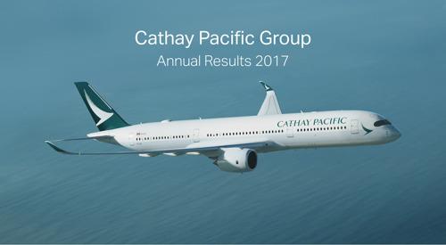 國泰航空有限公司公佈二零一七年全年業績