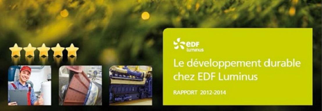 EDF Luminus publie son troisième rapport développement durable