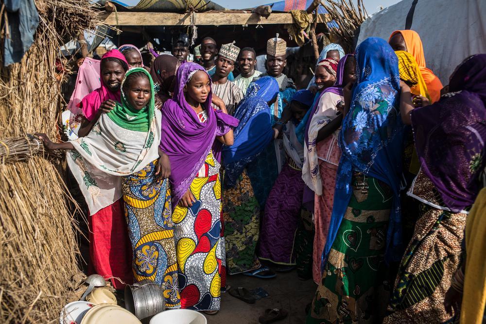 Marraige ceremeony of Gona, 18, in Rann. Photographer: Sylvain Cherkaoui/COSMOS