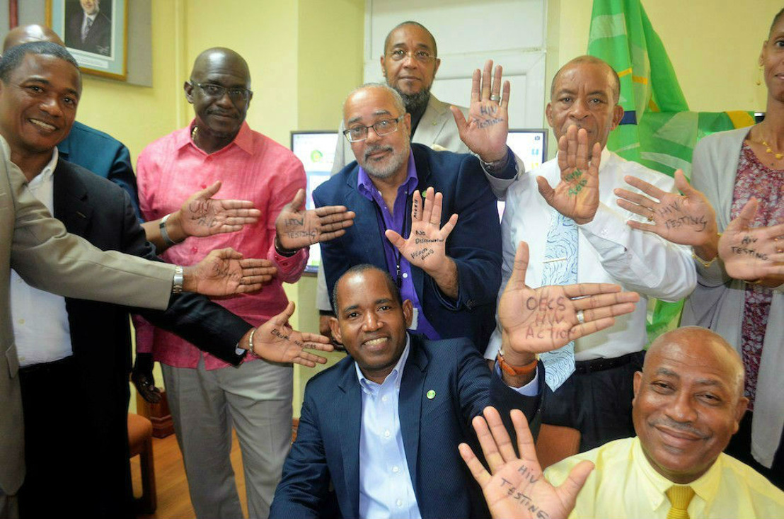 OECS Supports Hands up for HIV Prevention