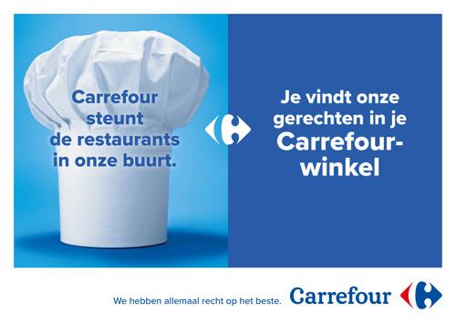 Carrefour geeft nationale zichtbaarheid aan haar steun voor de horecasector