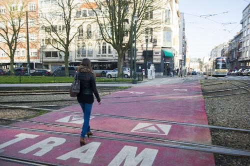 Minder ongevallen met trams, voetgangers en fietsers in 2018