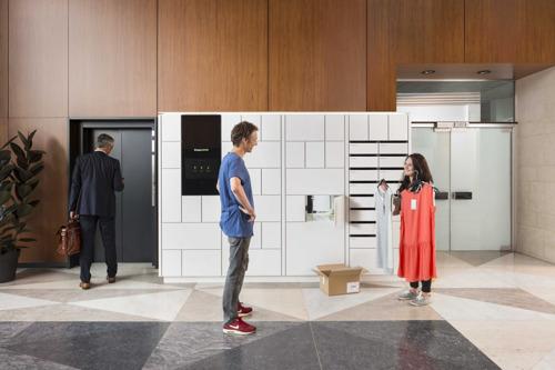 Eerste Bringme Box in een residentie in Brussel Bringme: pakjes leveren zonder dat je er bent