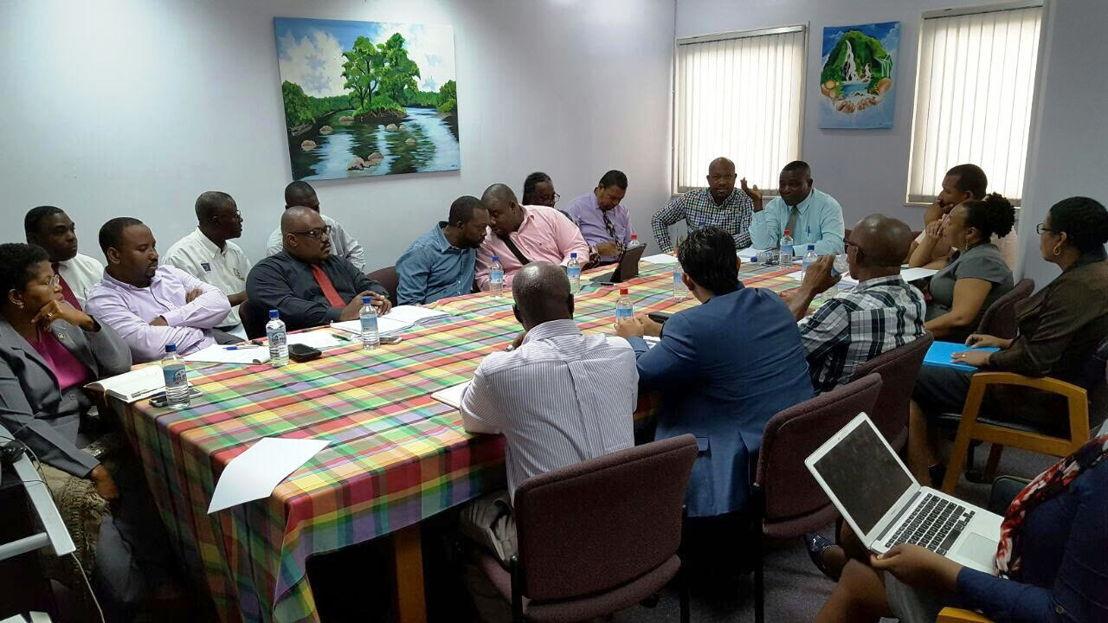 Rencontre avec les professionnels du secteur agroalimentaire de la Dominique.