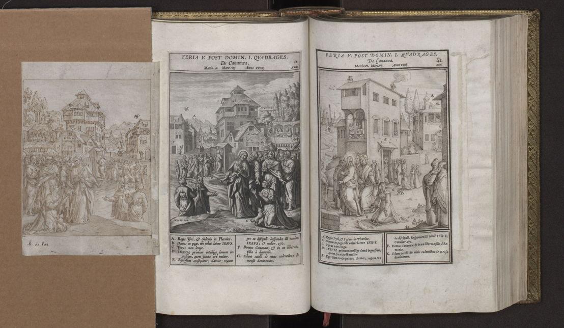 Evangelicae historiae imagines: dessins préparatoires de Maarten De Vos et Bernardino Passeri, estampe par Hieronymus Wierix