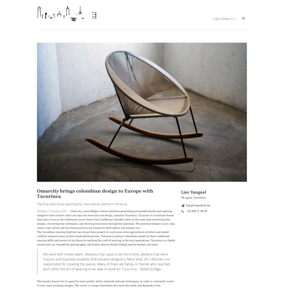 Omarcity brings Colombian design to Europe with Tucurinca