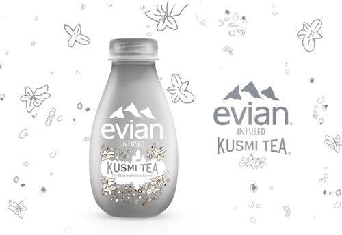 evian® et Kusmi Tea® proposent, cet hiver, une nouvelle boisson en Belgique