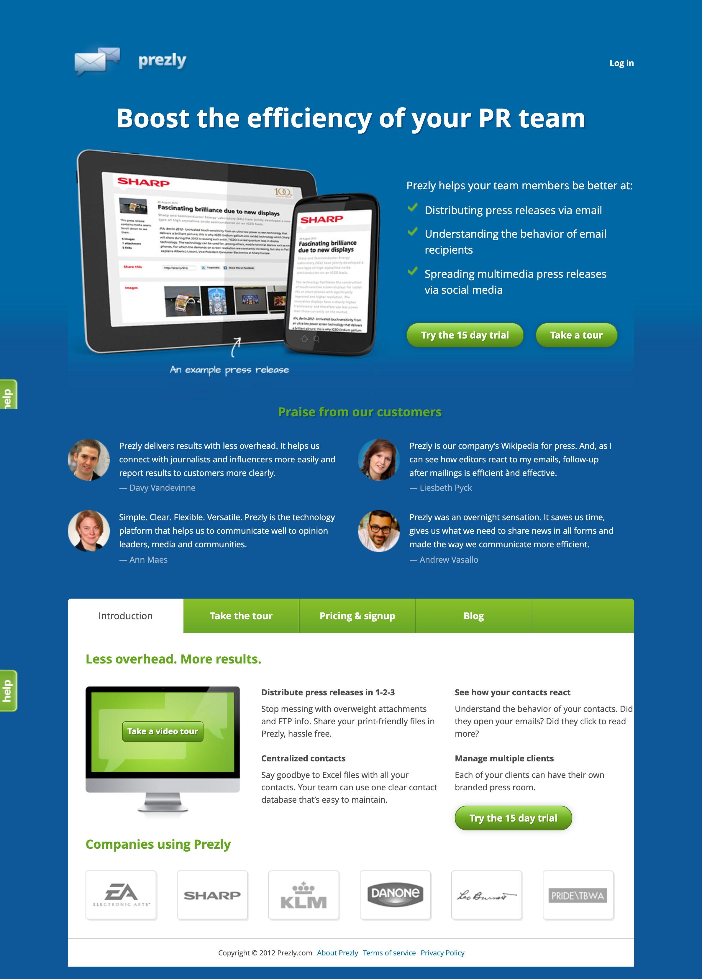www.prezly.com - 2012