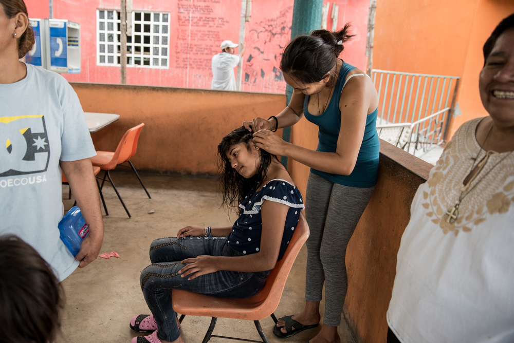 In the women's section of the Tenosique migrant shelter. Nearly one-third of women migrating through Mexico suffer sexual abuse, according to an MSF survey. Photographer: Marta Soszynska