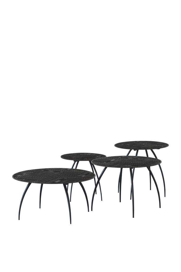 Ancestors Tabwa Thin side tables - set of 3