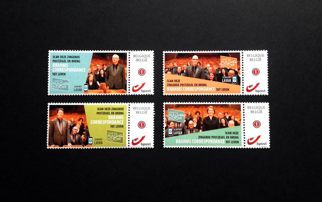 Le Vlaams Radio Koor et Havas Worldwide Brussels lancent 'le timbre poste chantant'.