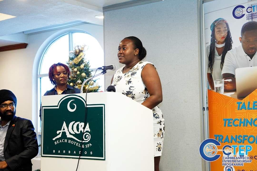 Jasmine at CTEP Awards in Barbados.