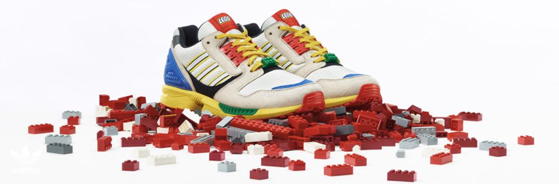 """adidas Originals y Grupo LEGO presentan una versión especial de la silueta ZX 8000 - """"L"""" de LEGO® -"""