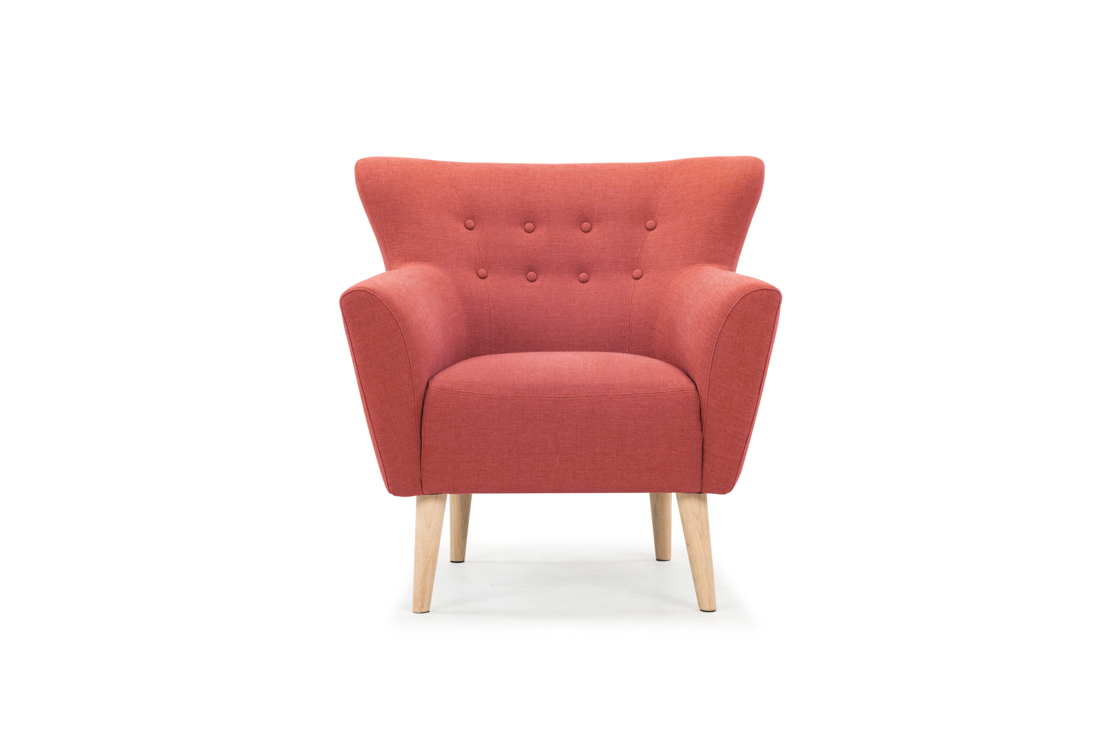 Ellen, chair, Legend Terracotta, Oak Soap Legs