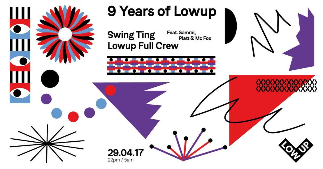 22:00:  Dag van de Dans: 9 years of LOWUP - Party!
