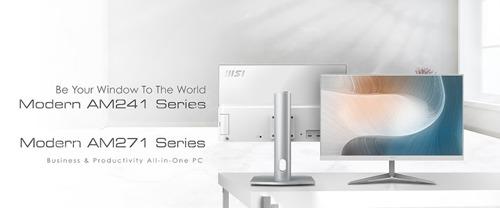 MSI stellt zwei neue Reihen von All-in-One-PCs vor: Modern AM241 und AM271