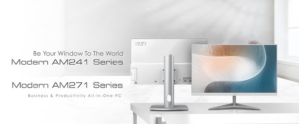 Preview: MSI stellt zwei neue Reihen von All-in-One-PCs vor: Modern AM241 und AM271