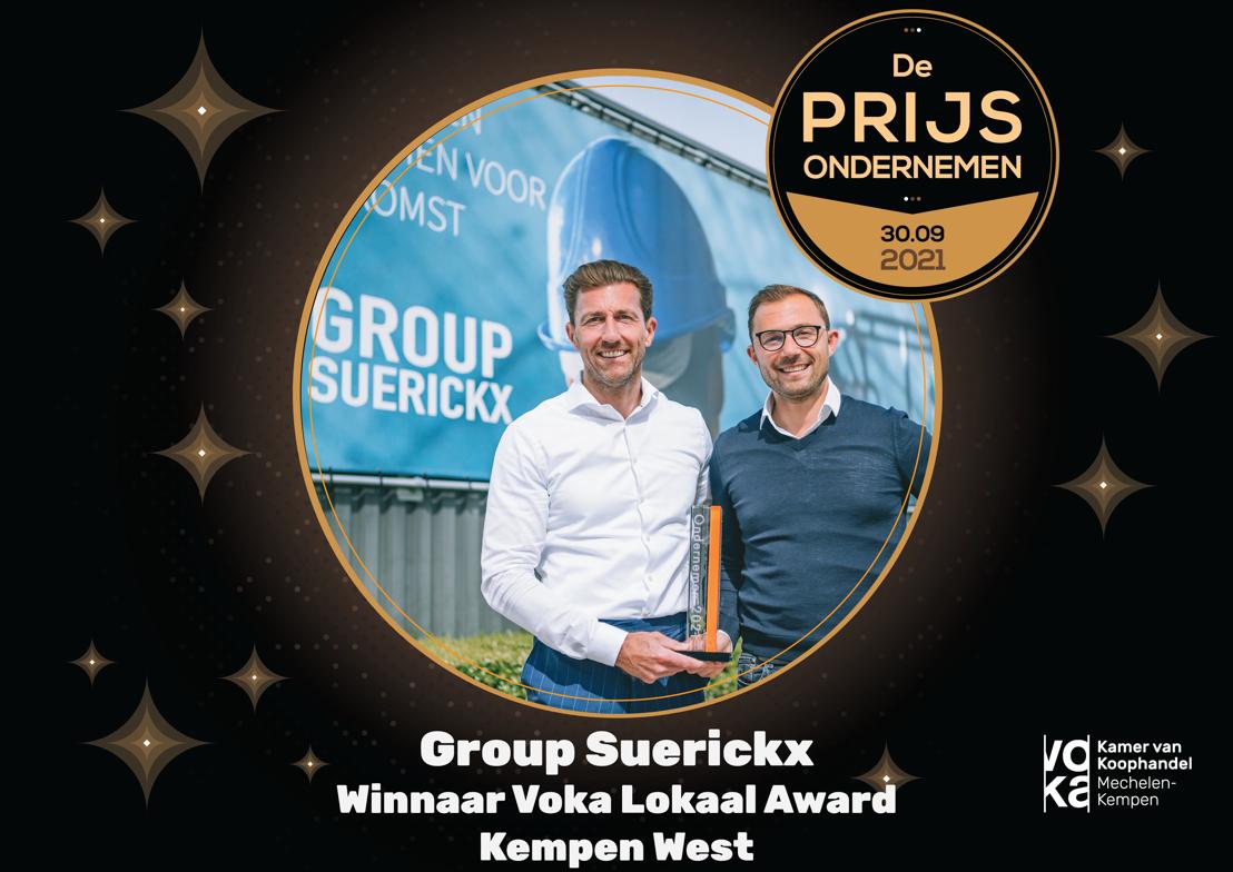 Group Suerickx dingt mee naar Voka Prijs Ondernemen 2021