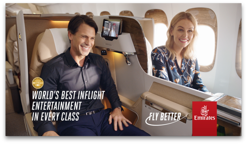 "Emirates invites travellers to ""Fly Better"""
