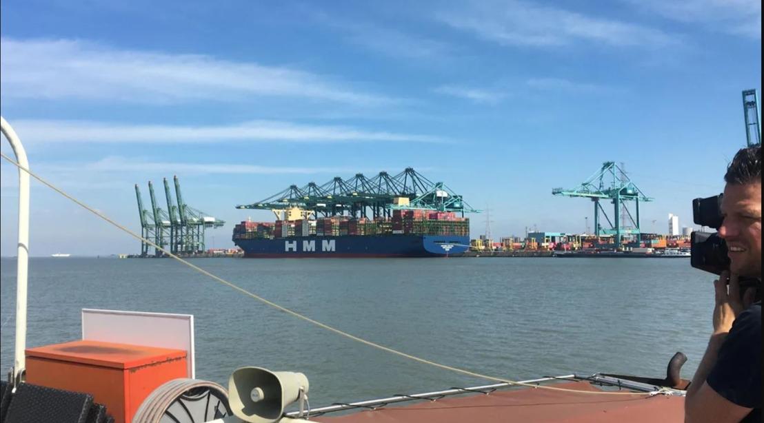 Port of Antwerp verwelkomt tweede grootste containerschip ooit