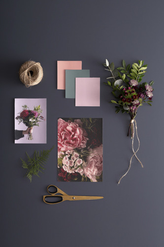 'Midnight Blooms' wallpaper collection captures the moody floral trend