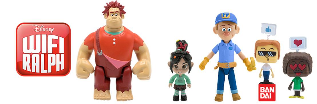 Bandai trae para todos las figuras y juguetes de la nueva película Wifi Ralph de Disney