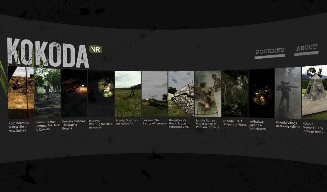 Screenshots of Kokoda VR 1
