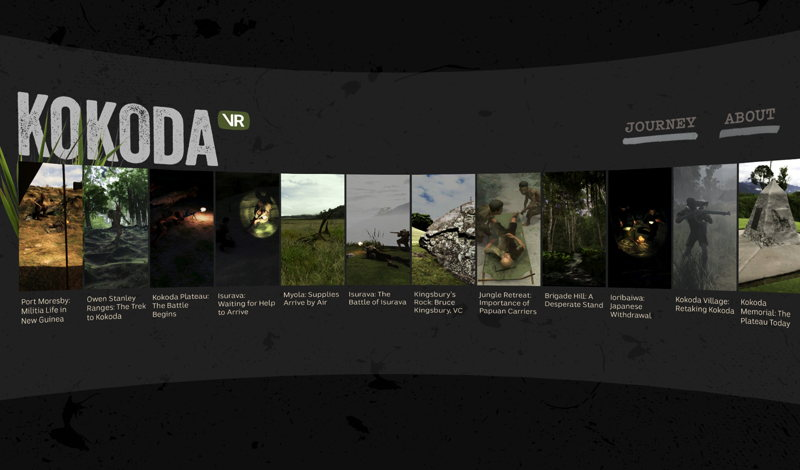 Screenshots of Kokoda VR 1