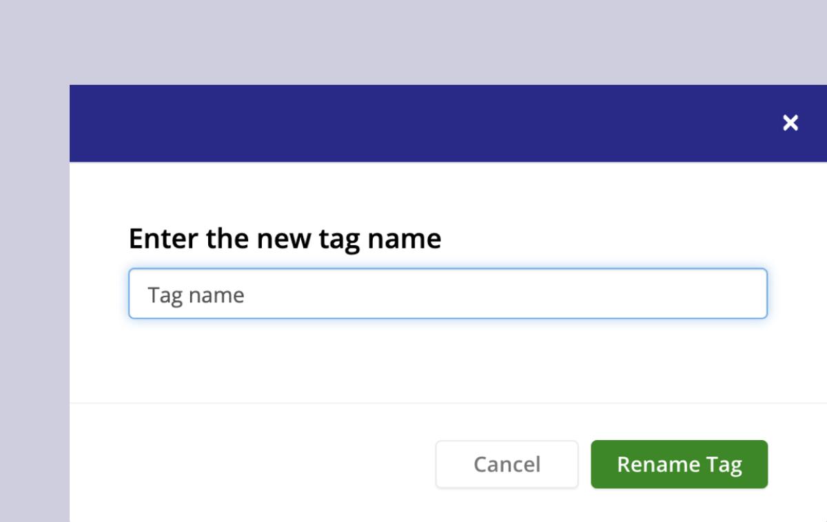 Managing Tags