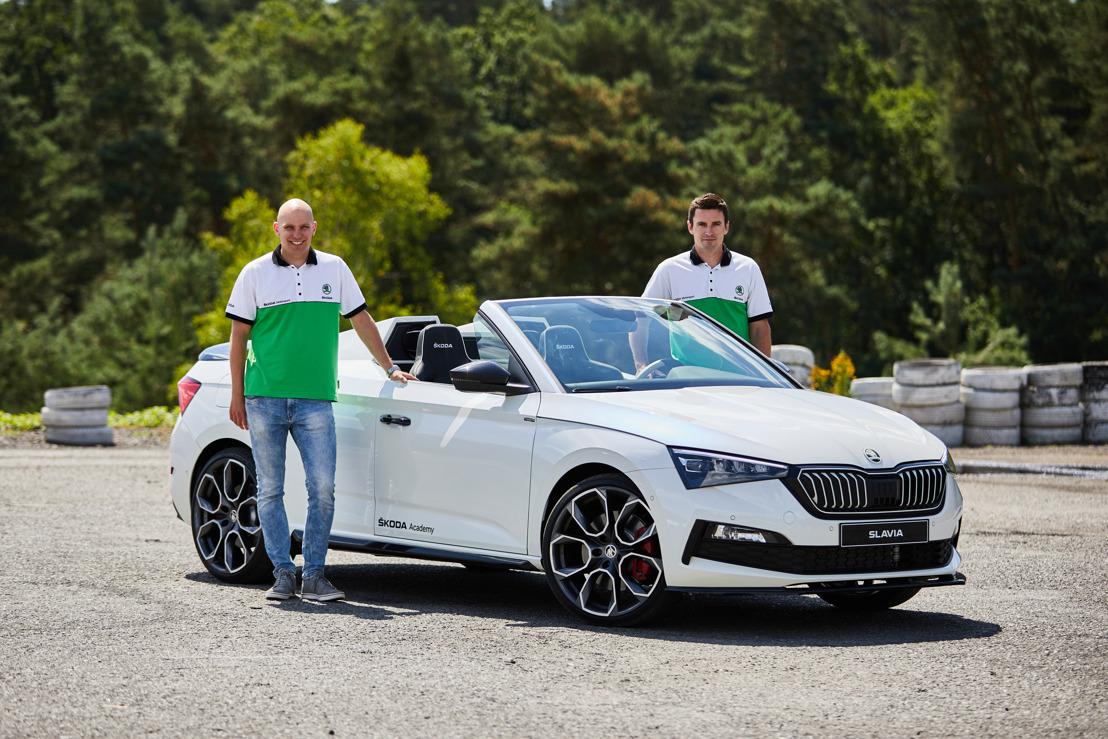 ŠKODA SLAVIA endurance test: Student Car 2020 impresses rally professionals Jan Kopecký and Jan Hloušek