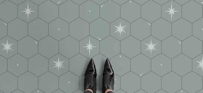 Take on the celestial flooring trend with Atrafloor's Night Sky Collection