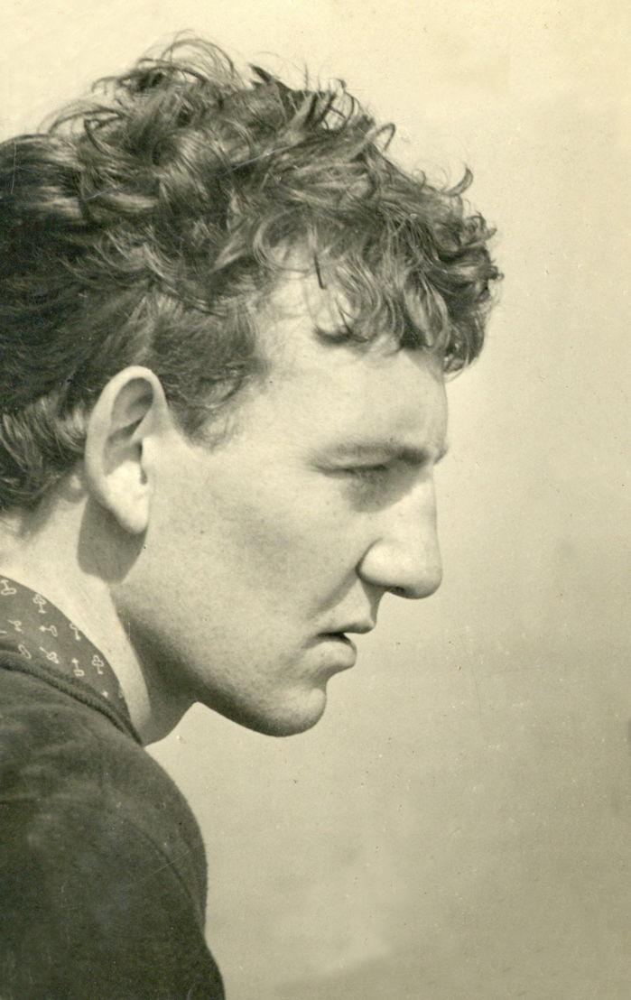 Hugo Claus in Oostende, juli 1949