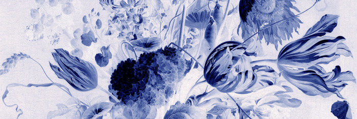 Preview: Famous floral paintings recreated as 'Delft' wall murals