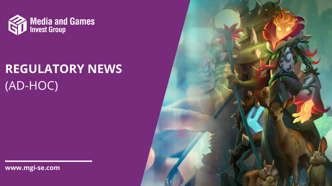 Media and Games Invest SE outperforms games market with strong organic growth of 36% in Q2'21 driven by revenue synergies from the media and games segments; adj. EBITDA margin improved from 22% to 27%