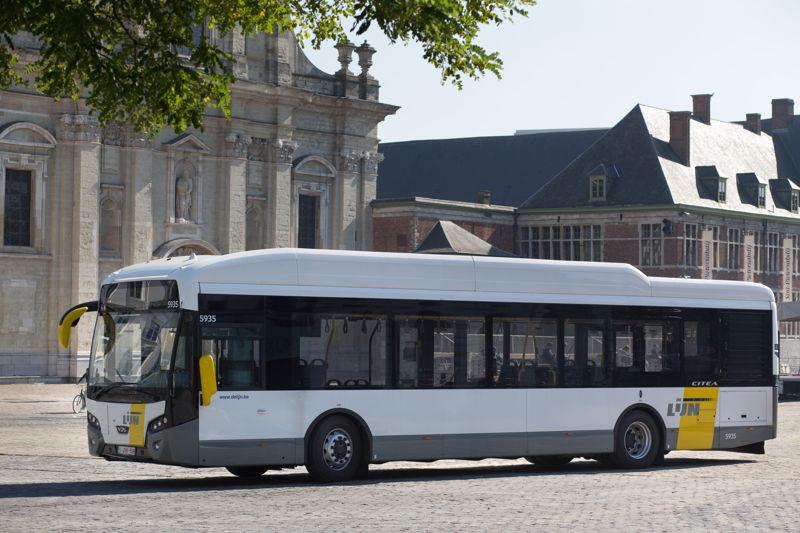 Een hybride bus van VDL (model: Citea Hybrid).