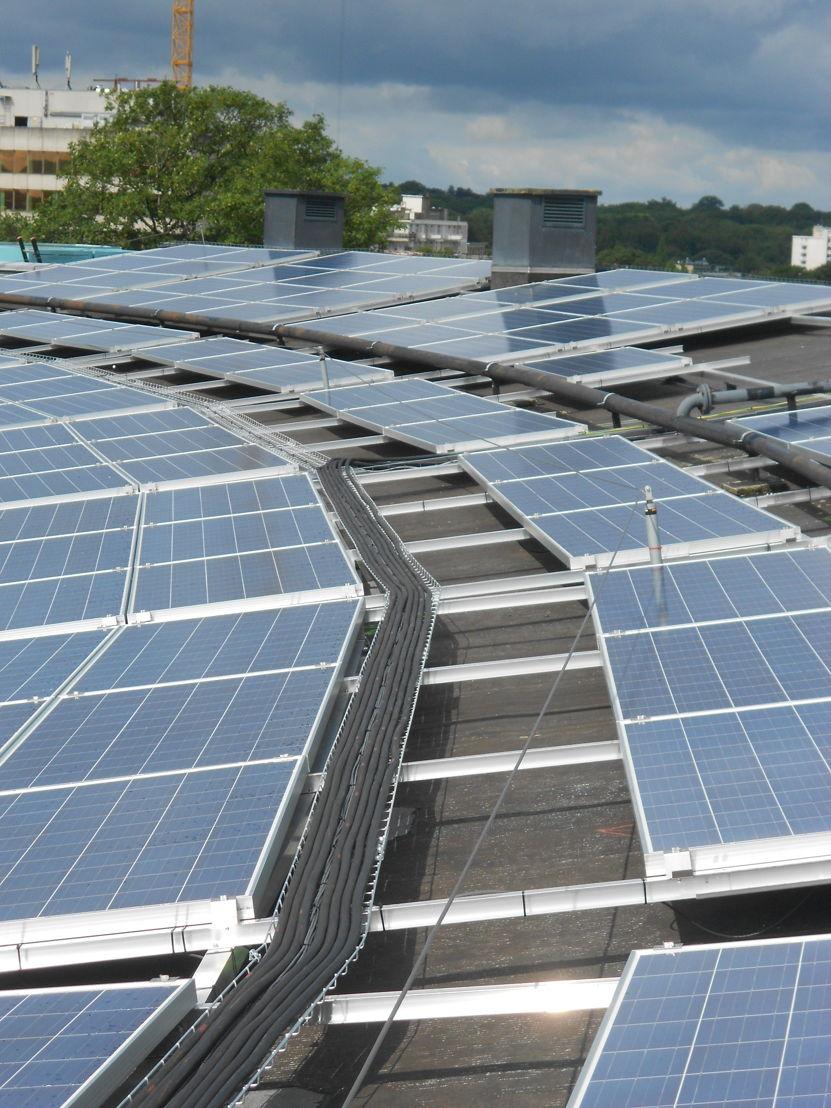 Een zonne-installatie van Eneco