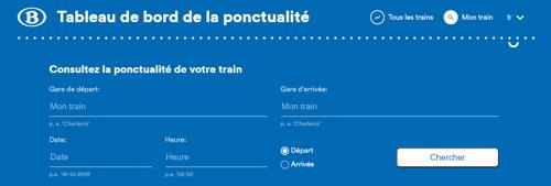 La SNCB lance un nouveau tableau de bord public de la ponctualité, y compris des trajets personnels des voyageurs