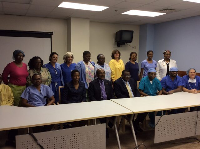 Doctors and medical staff from the Mount St John's Medical Centre
