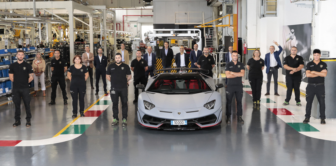 New production record: Automobili Lamborghini celebrates the 10,000th Aventador