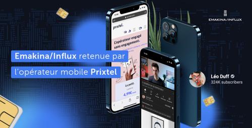 Emakina/Influx retenue par l'opérateur mobile Prixtel