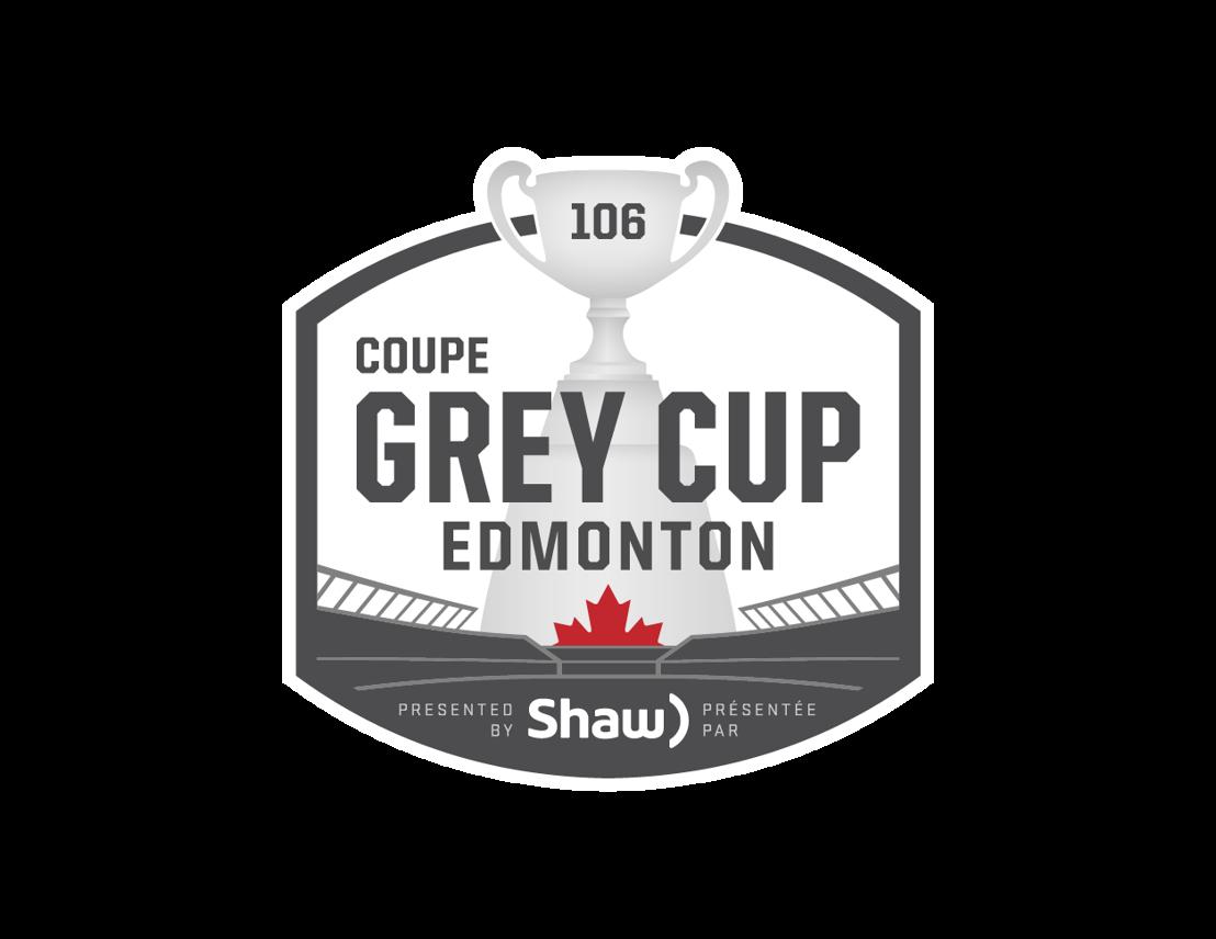 Logo de la 106e Coupe Grey, présentée par Shaw.