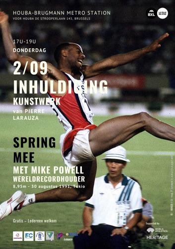 SAVE THE DATE 2/9 | Inhuldiging van een kunstwerk in Laken dat kunst en sport samenbrengt