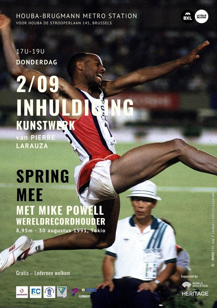 SAVE THE DATE 2/9   Inhuldiging van een kunstwerk in Laken dat kunst en sport samenbrengt