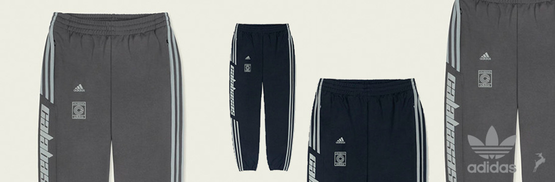 adidas Originals + KANYE WEST anuncian el lanzamiento del CALABASAS TRACK PANT